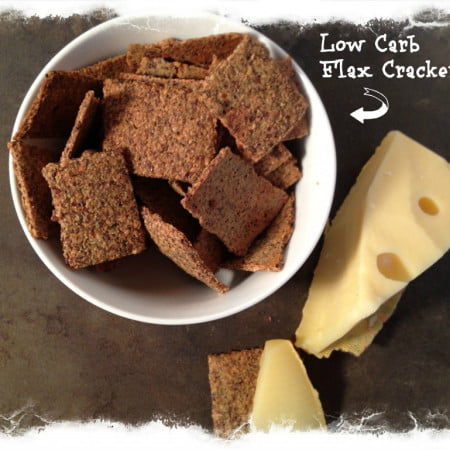 Yummy Low Carb Flax Crackers - great source of fiber too.