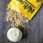 bowls of low carb easy cashew cheese with text