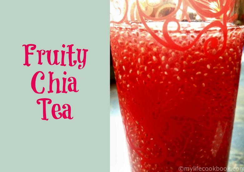 fruity chia seed tea