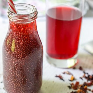 This low carb fruit chia tea is a healthy and tasty drink you can easily make at home instead of buying an expensive one at the store.  Using fruity herbal tea you can make any variety of flavors you wish!