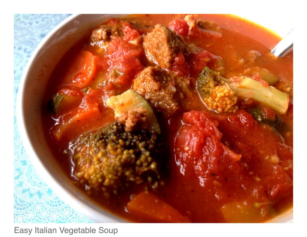 Recipe Easy Italian Vegetable Soup My Life Cookbook Low Carb - Italian vegetable soup
