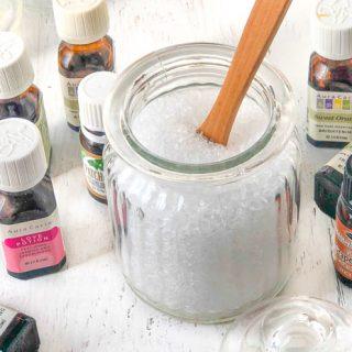 Make Your Own Easy Bath Salts Recipe using Essential Oils