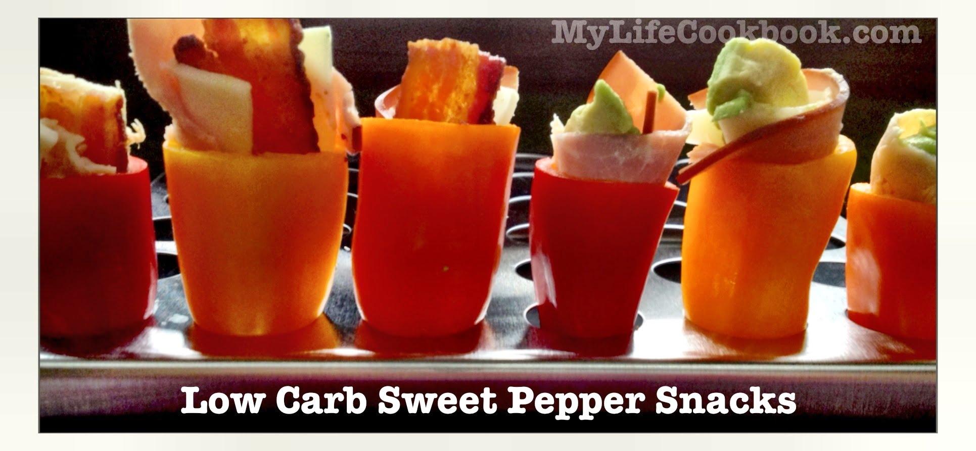 low carb sweet pepper snacks my life cookbook. Black Bedroom Furniture Sets. Home Design Ideas