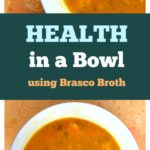 This soup is not only delicious, it's full of healthy, good for you ingredients. That's why I call it Health in a Bowl!