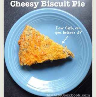 Low Carb Cheesy Biscuit Pie