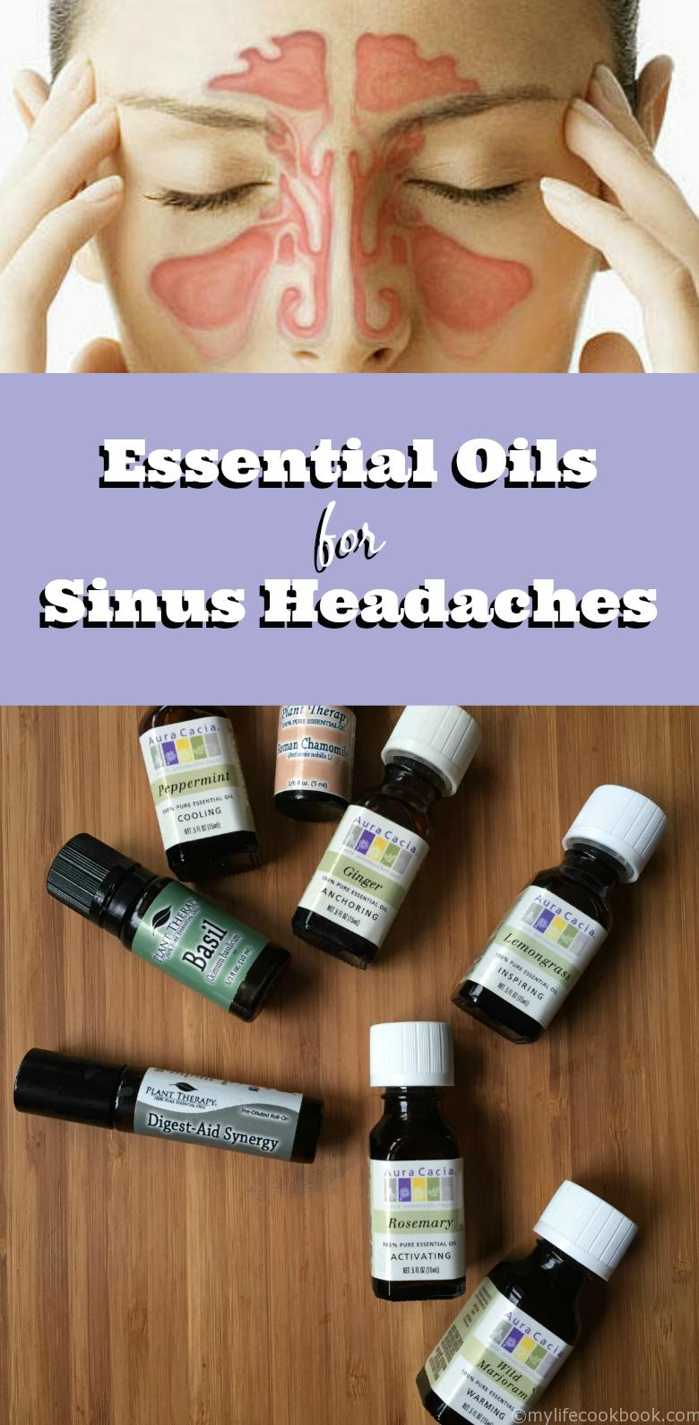 Great essential oil combination for sinus headaches.