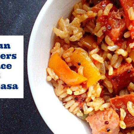 cajun peppers rice kielbasa