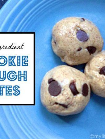 cookie dough bites 3 ingredients gluten free healthy