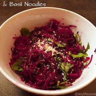 Beet & Basil Noodles