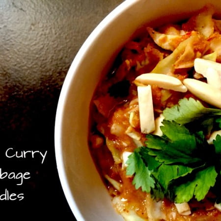 Red Curry Cabbage Noodles
