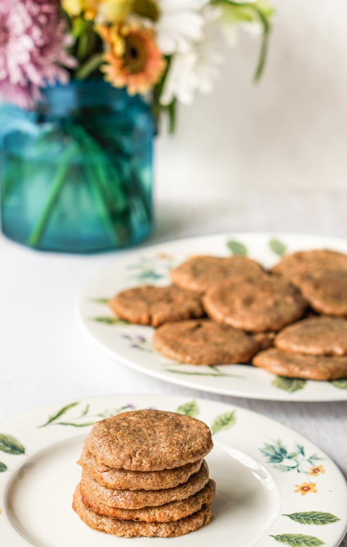 These easy almond butter cookies only take 4 ingredients and are gluten free too! An easy, healthy cookie your whole family will love.