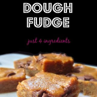 This delicious fudge only has 4 ingredients and is gluten free and healthy.