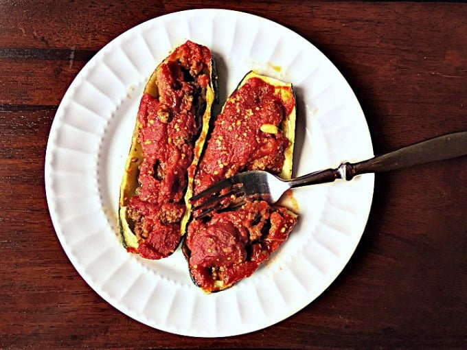 Middle Eastern Stuffed Zucchini is a family recipe that I just love. Delicious as is or over rice.