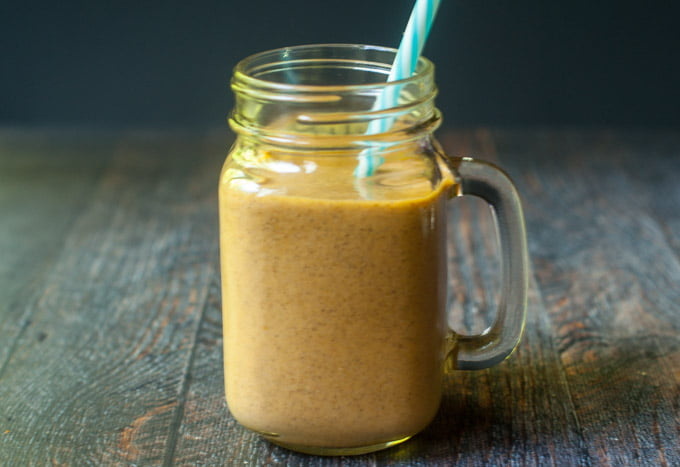 This is a delicious low carb pumpkin protein smoothie that is perfect for getting in that protein for your morning breakfast.