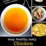 collage of how to make bone broth with text overlay