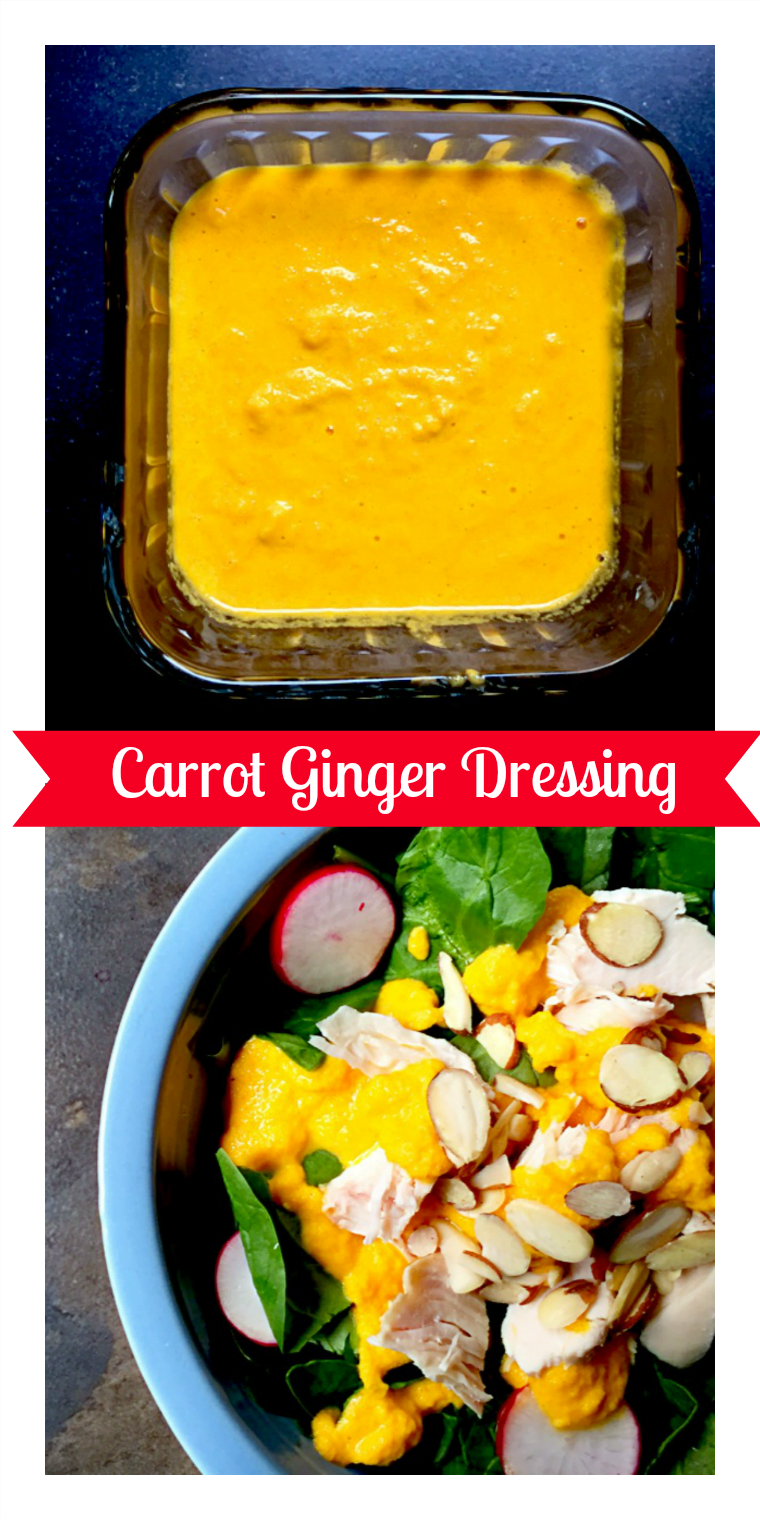 Japanese Carrot Ginger Salad Dressing. Just takes 5 minutes to make!