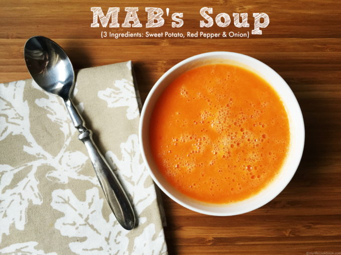 MAB's 3 ingredient soup is a quick & easy soup full of comforting, healthy ingredients. Change it but by the different herbs and spices you add.