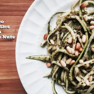 Pesto Zoodles with Pine Nuts