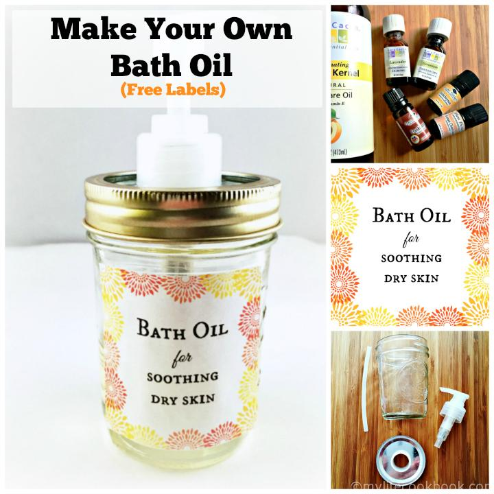 Make Your Own Bath Oil - FreeLabels