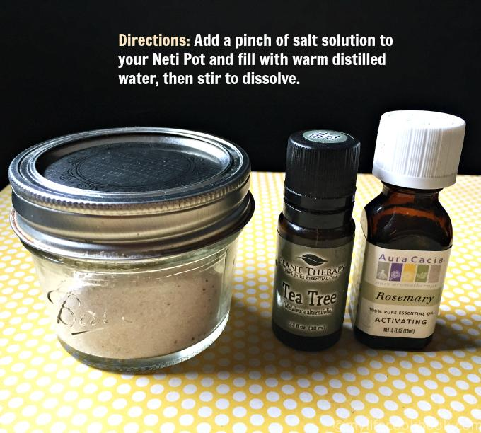 Make Your Own Neti Pot Salt Solution with Essential Oils
