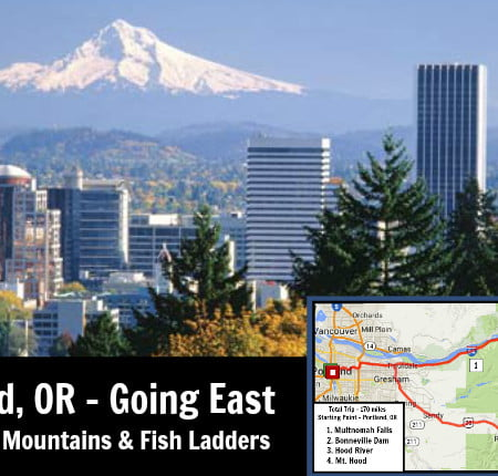 Portland, OR Going East - Waterfalls, Mountains and Fish Ladders