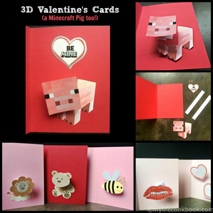 3D Valentine's (A Minecraft Pig too)