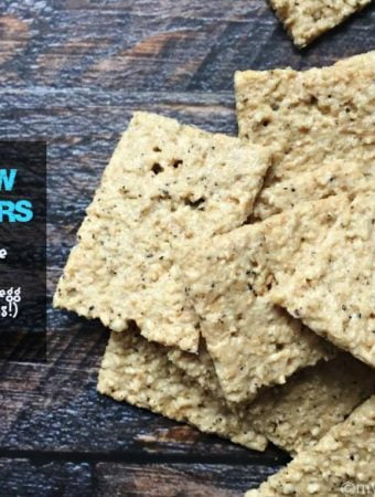 Easy Cashew Crackers. Grain free and the only ingredients are cashews, egg whites and spices!