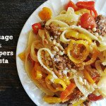 Sausage and Peppers Pasta. A quick and delicious dinner. Eat it with noodles or zucchini noodles!
