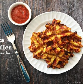 Savory Pizza Waffles - Grain Free, Low Carb Paleo Treats!