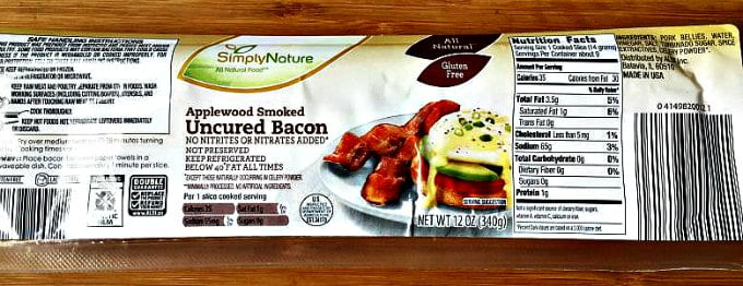 applewood uncured bacon from Aldi