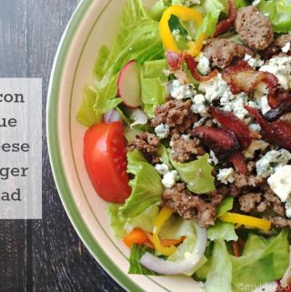 Bacon blue cheese burger salad