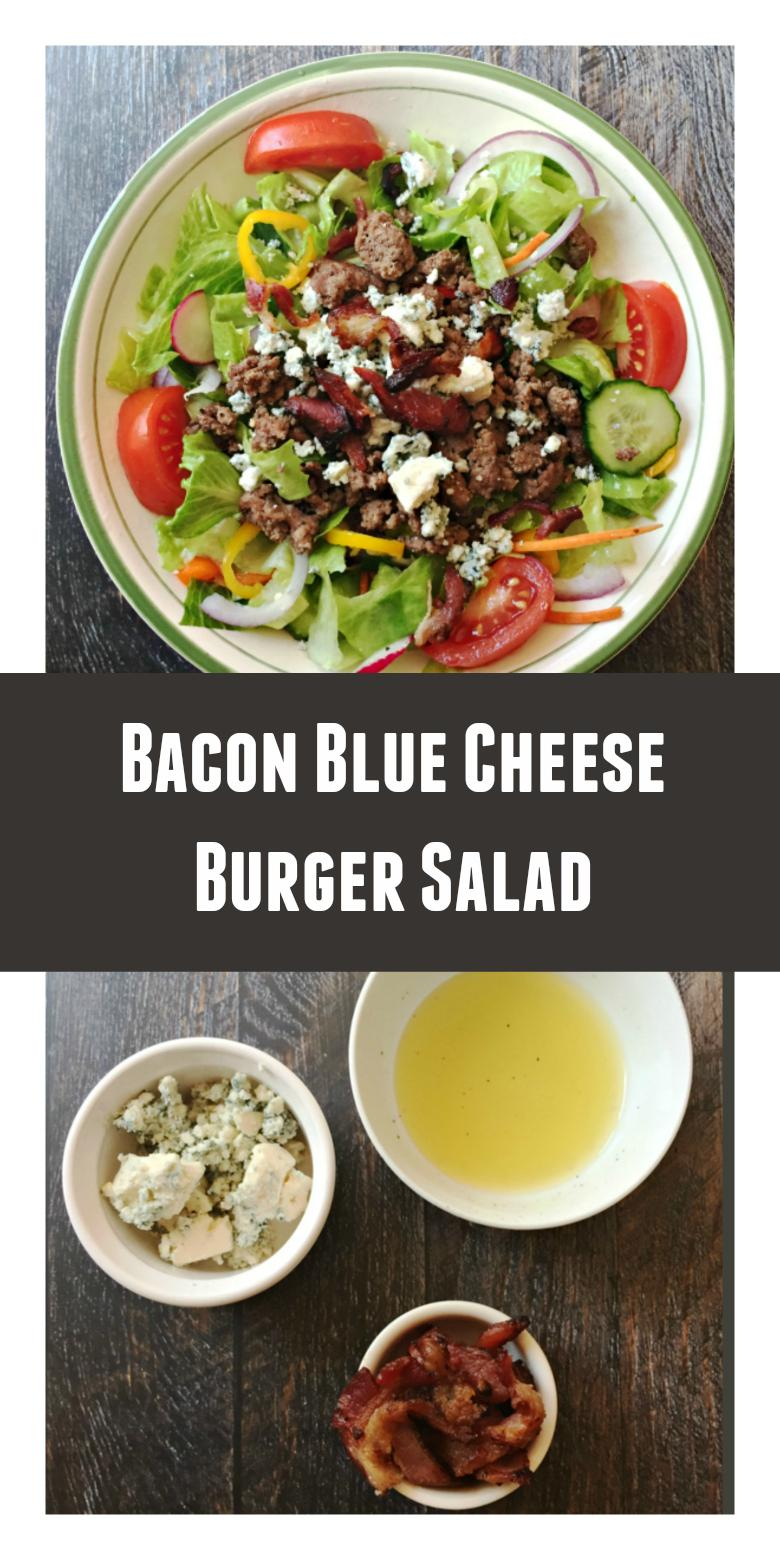 Bacon Blue Cheese Burger Salad (Low Carb) - My Life Cookbook