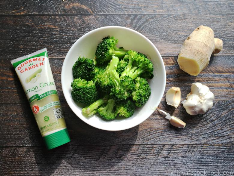 broccoli lemongrass ginger garlic butter side dish