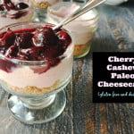 Cherry Cashew Cheesecake Gluten Free Dairy Free