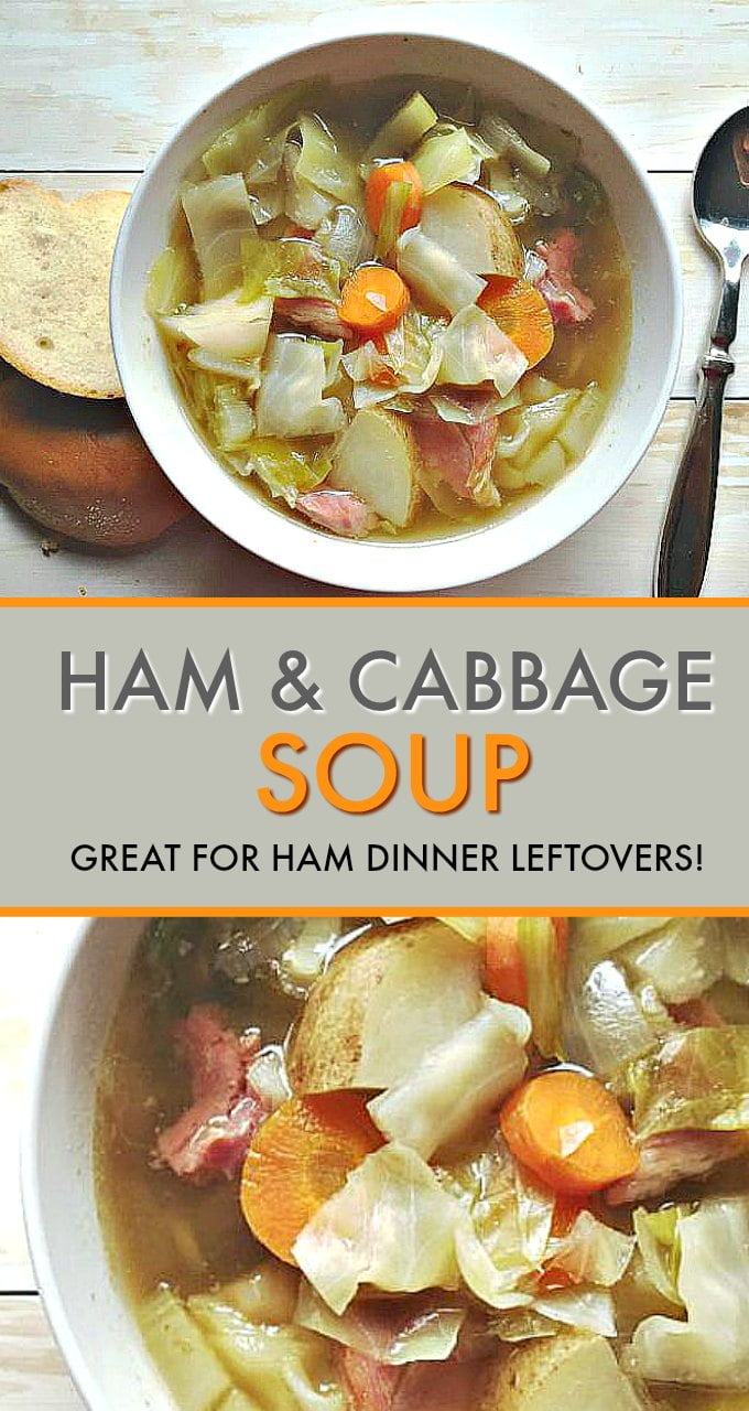 This ham and cabbage soup recipe is a family favorite. It's the perfect dish to make after a big ham dinner. Use the hambone to make a flavorful stock.