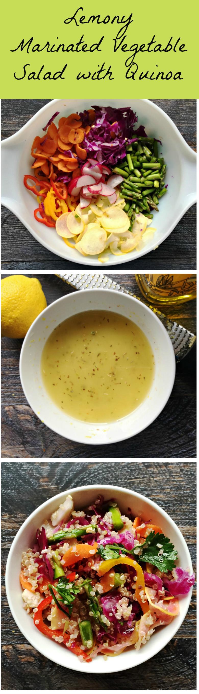 Lemon Marinated Veggie Salad with Quinoa