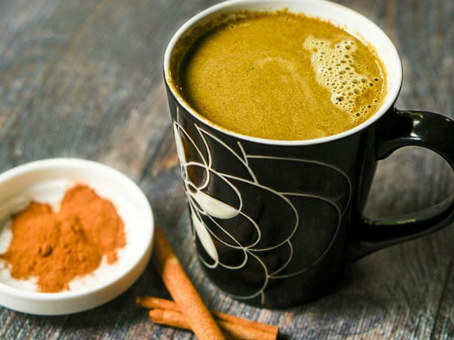 This hot cinnamon buttered matcha has the buttery, cinnamon goodness of a piece of buttered cinnamon toast. Matcha tea has great health benefits and tastes great in this warming low carb drink.