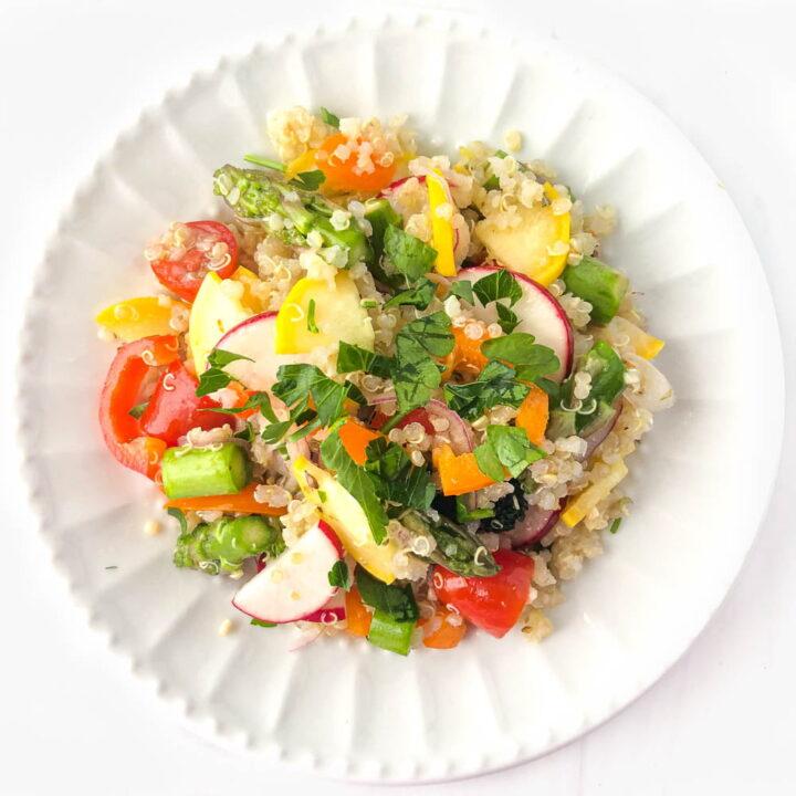 Lemony Quinoa Salad with Marinated Vegetables