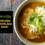 Quick and Easy Chicken Enchilada Soup that only takes minutes to make and it's packed with flavor.