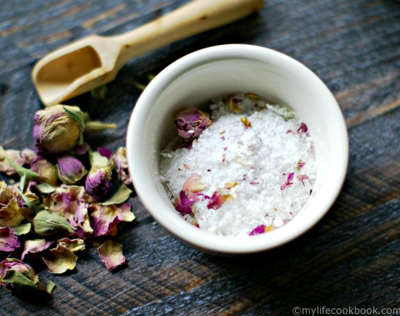 lemongrass ginger rose bath salts essential oils