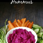 Lemony Beet Hummus Dip Snack