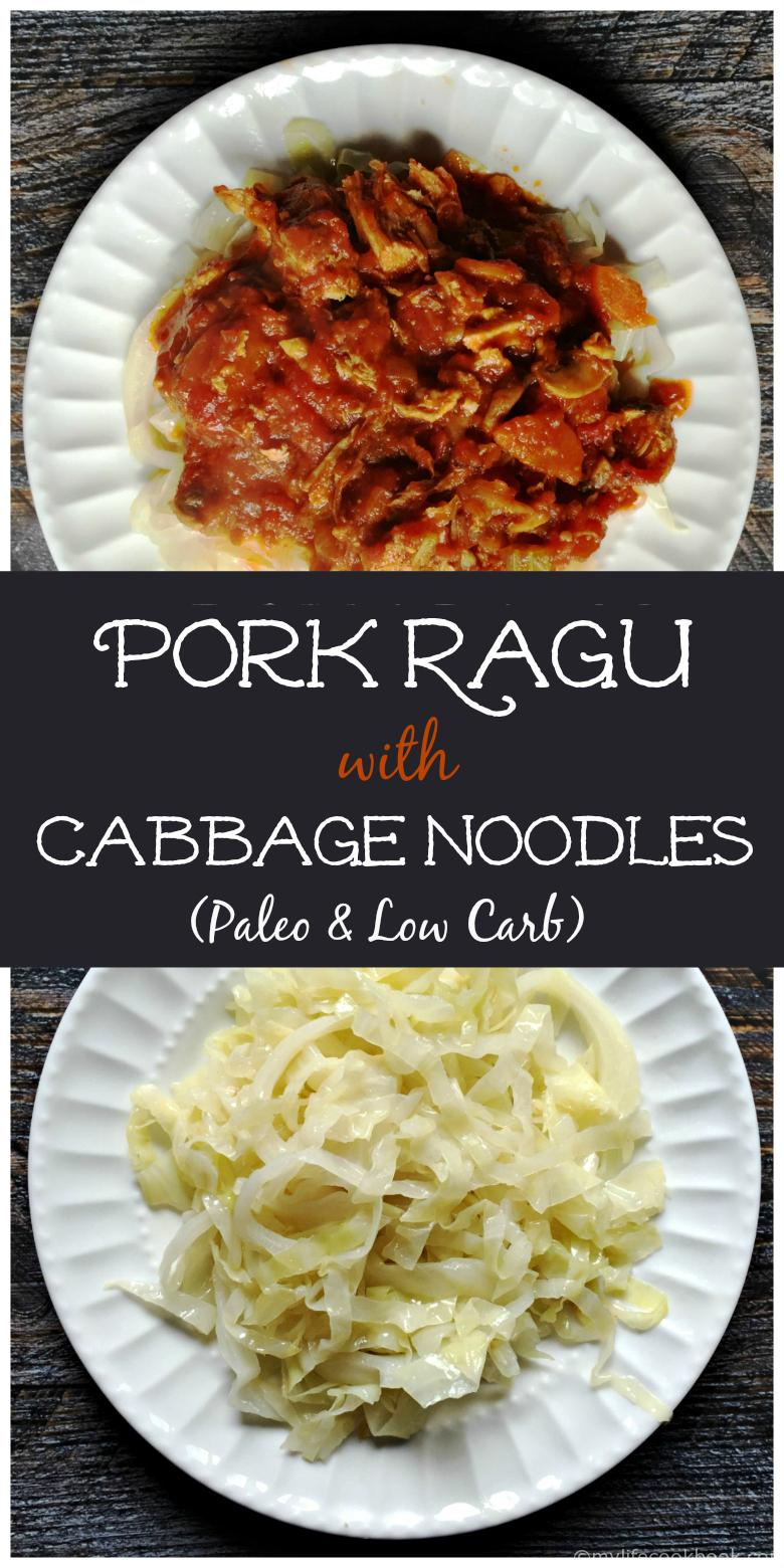 This is a fabulous Paleo meal that uses cabbages as noodles and tops off with a  good pork ragu.