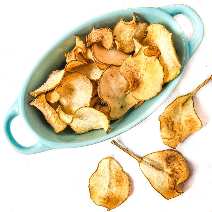 Pear Chips in the Oven
