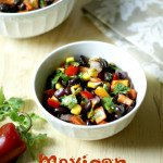 This is Mexican Bean is a great dish to take along to a picnic or party. Packed with healthy color and delicious taste and you can make ahead of time.