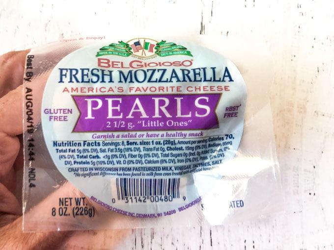 fresh mozzarella pearls