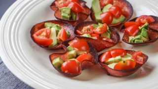 Salami Bites with Tomatoes & Avocado
