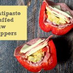 These antipasto stuffed raw peppers are the perfect low carb or Paleo lunch on the go.