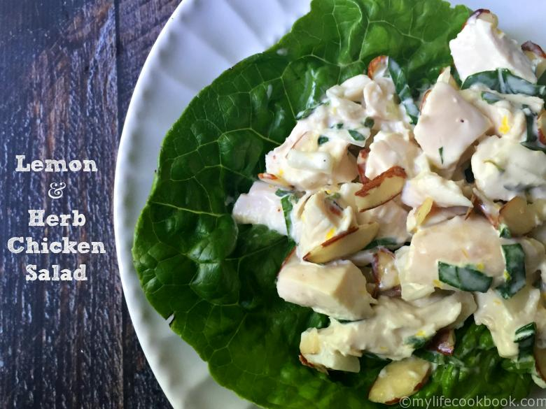 Lemon & Herb Chicken Salad (low carb) - My Life Cookbook ...