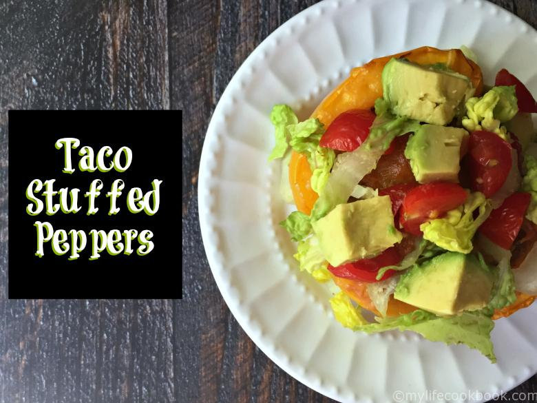 These Taco Stuffed Peppers are the perfect tasty low carb and Paleo dinner.