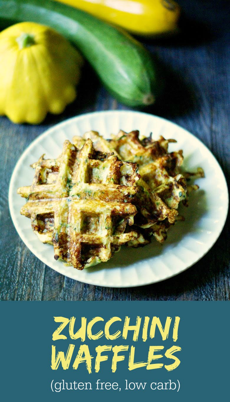 These savory zucchini waffles are gluten free, low carb and Paleo and you could freeze them for later. Only 4 ingredients for a tasty breakfast or snack